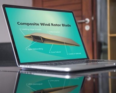Wind turbine blade laptop